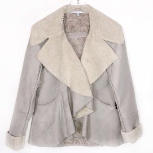 Faux Suede Shearling Jacket Size Medium by Hyfve